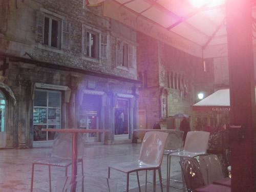 【写真】クリス君と入ったカフェからのスプリト旧市街