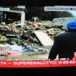 【写真】2011年3月11日のイタリアのテレビ放送。