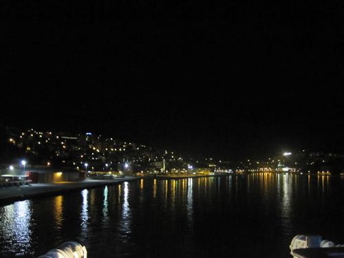 【写真】クロアチア ドブロブニクを夜10時に出航。