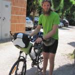 【写真】髭長きサイクリスト、ルカ君