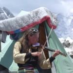 【写真】イベントのメインはチェコ女性のバイオリン演奏。