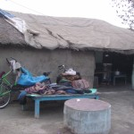 【写真】インドの小さい村で2005年を迎えた。