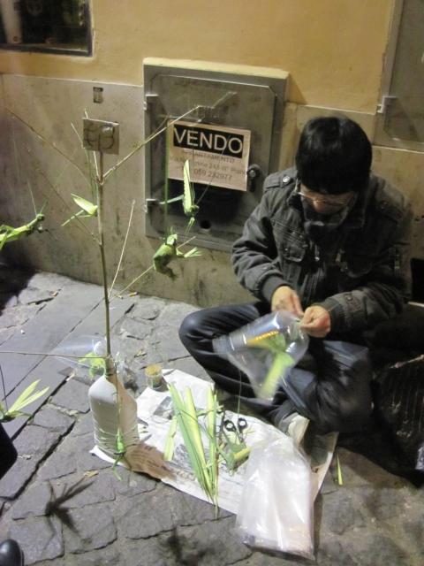 【写真】中国人路上芸人も増えつつある。