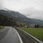 【写真】オーストリア走行の景観はとてもよいが雨が続く。