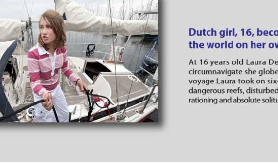 【写真】16歳のオランダ人が単独ヨット世界一周とか。
