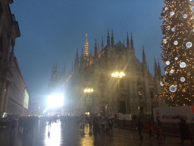 【写真】年末年始のミラノは寒い。