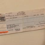 【写真】差し出された関釜フェリーのチケット(写真はイメージです)