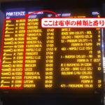 【写真】電車の種類と番号