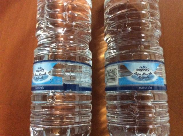 お水2リットル×2本 一本0.17ユーロ20円×2 0.34ユーロ40円