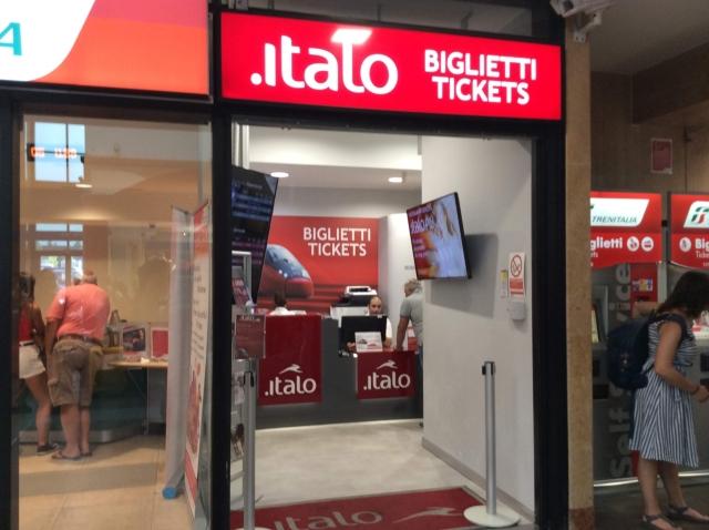 イタロのオフィスでチケットを購入