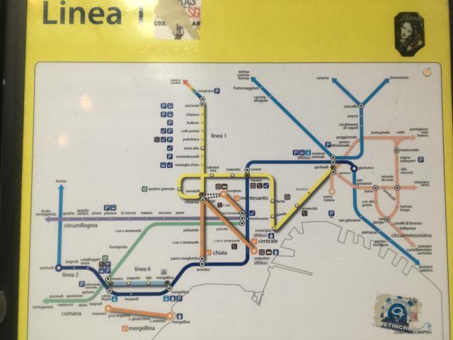 【写真】ナポリ近郊の路線図
