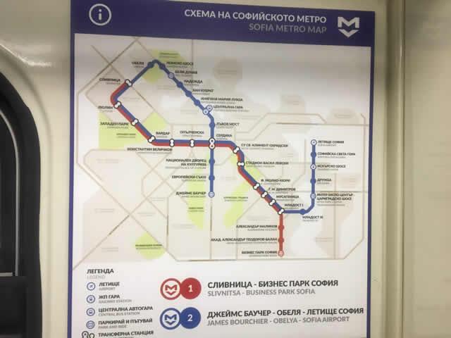 ソフィア地下鉄マップ