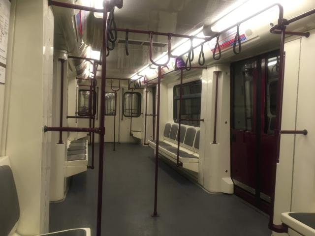 【写真】ソフィア地下鉄内の様子