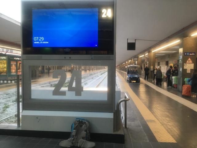 【写真】ナポリ駅は24番ホームまで地上階のみ