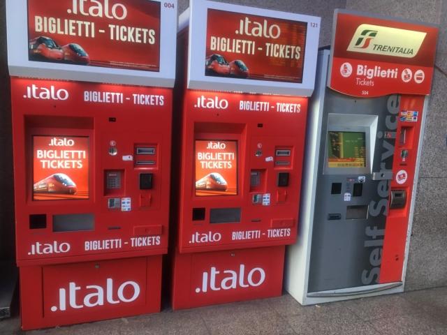 イタロの自動発券機で購入