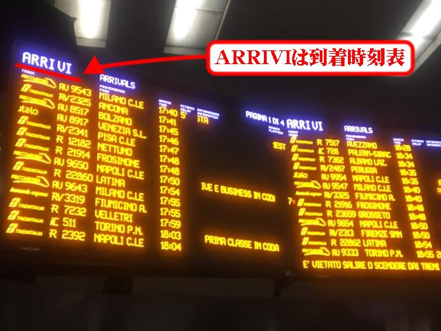 【写真】ARRIVIは到着時刻表