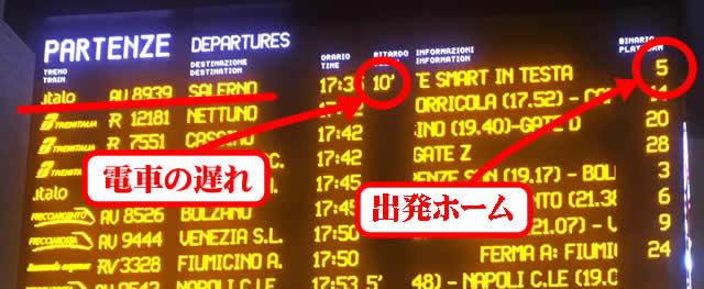 【写真】italoイタロの出発ホームに向かう
