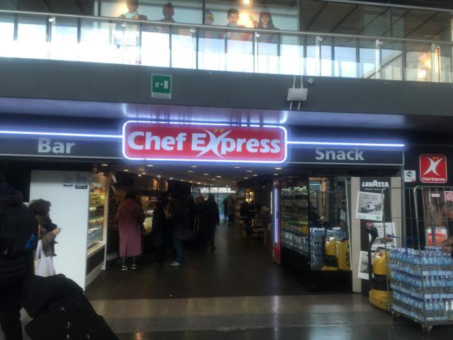 ローマ・テルミニ駅にあるChef Express