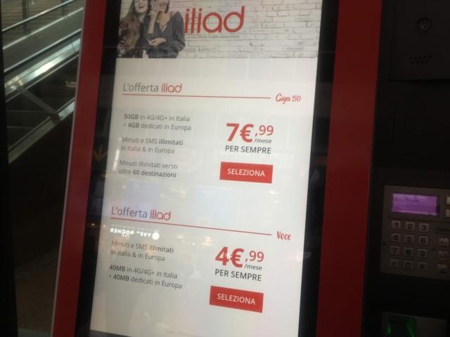 【写真】iliad格安SIMイタリアは自動SIM登録マシーンがある