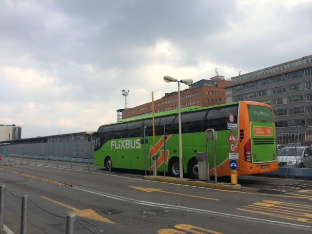 バスの発着所は市、街により決まっている