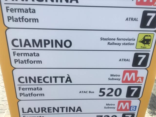 チャンピーノ空港の案内番