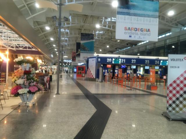 カリアリにあるエルマス空港