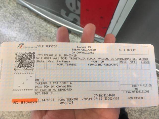 レオナルドエクスプレスのチケット