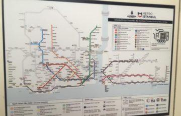 イスタンブール地下鉄路線図
