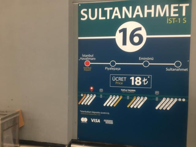 Havaistバスはスルタンアフメットまで18リラ