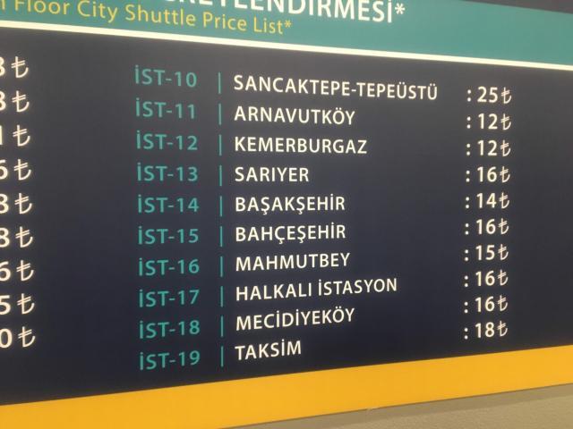 HAVAISTバスは市内の各地から発着する