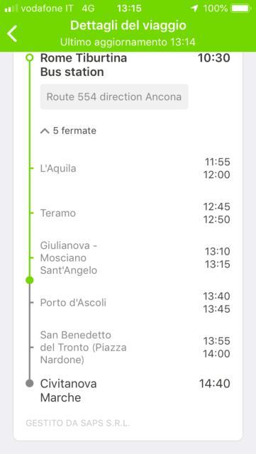 乗車券に表示されている乗車時間を確認