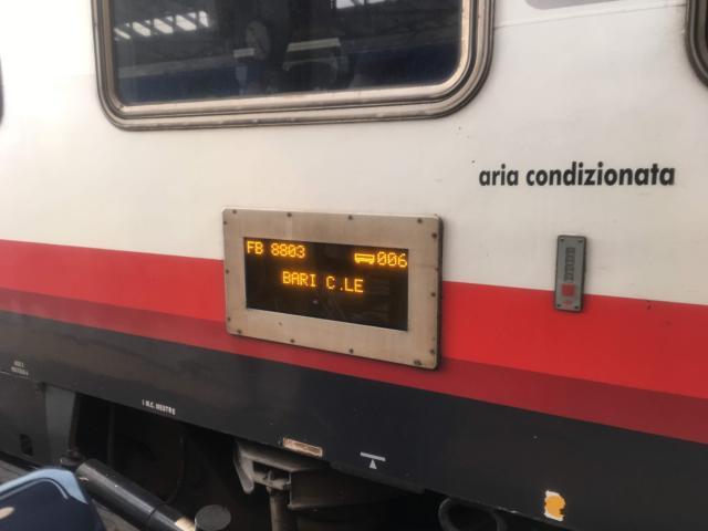 【写真】フレッチャ・ビアンカの車両番号は側面に表示されている