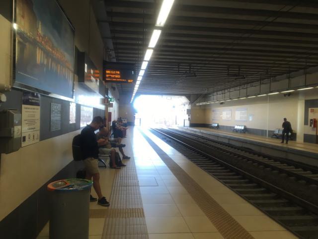【写真】バーリ中央駅行きはほぼ1番ホーム