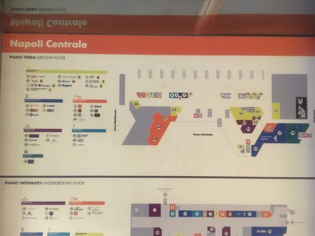【写真】ナポリ中央駅構内図