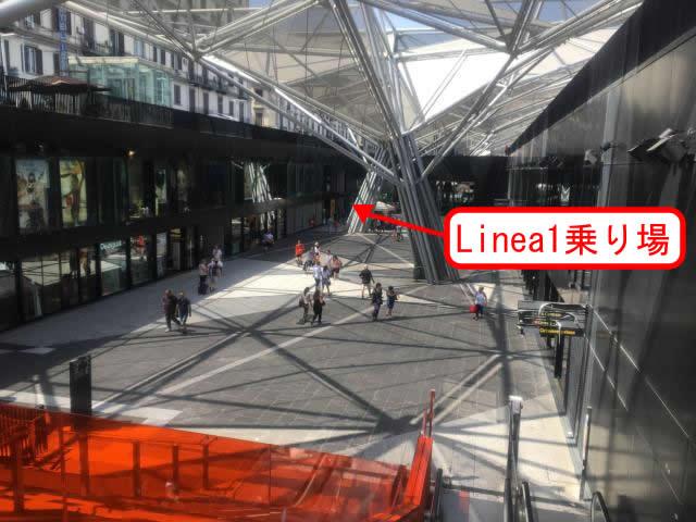 ナポリ中央駅Linea1乗り場