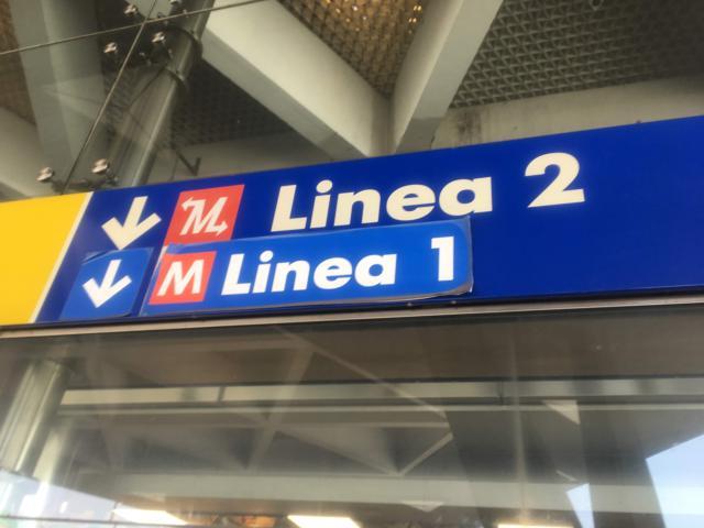 Linea 1 は便利な地下鉄