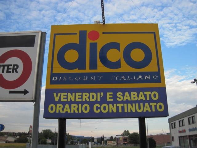 【写真】dicoディスカウントスーパー。