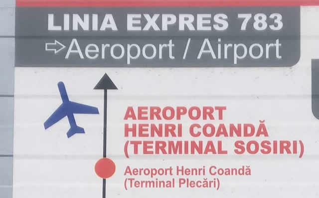 【写真】 バス番号783はブカレストとアンリ・コアンダ空港を結ぶエクスプレスとなっています バス番号783はブカレストとアンリ・コアンダ空港を結ぶエクスプレス