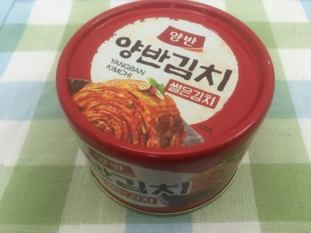 【写真】キムチの缶詰
