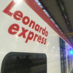 【写真】Leonardo expressは車体に書かれている