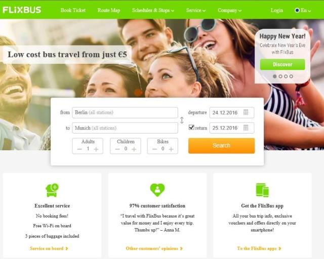 【写真】FliXバスはインターネットで簡単購入できる。