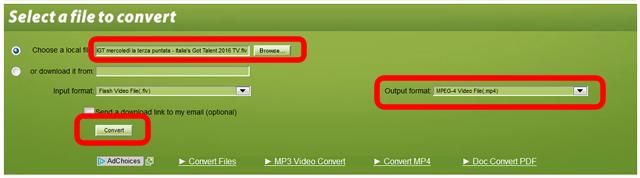 【写真】ファイルを選んだら、次にどの種類のファイルに変換するかを選ぶ。