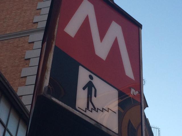 【写真】地下鉄A線のFurio Camillo駅下車すぐ。