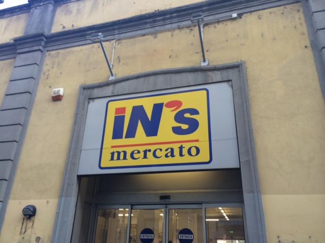 【写真】イタリアディスカウント系スーパーIN'Sの看板。