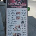 【物価調査】アルバニアレストランのメニュー価格一例その2。