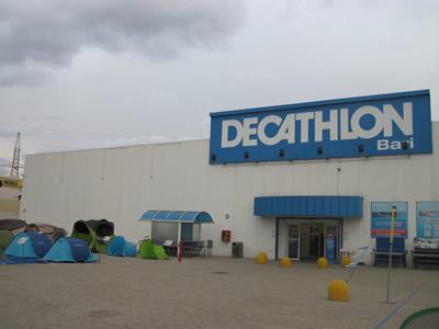 スポーツ用品全般を扱った店デカトロン