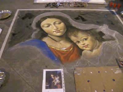路上に絵を描く芸マドンナーロ
