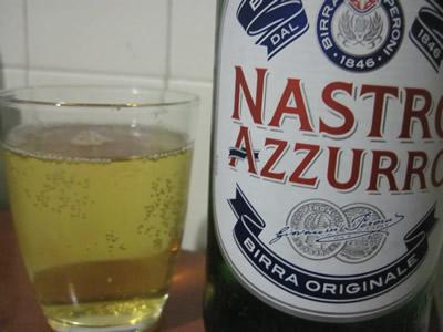 Nastro AZURROのビール