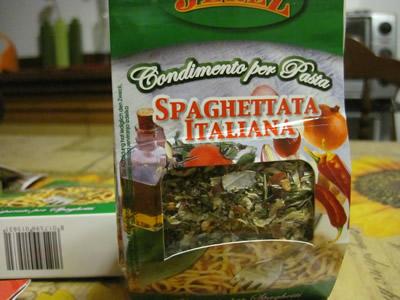 ユーロスピンで見つけたスパゲッティ用合わせ調味料。