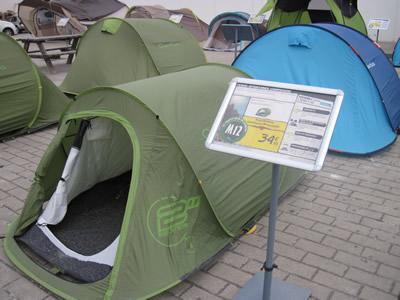 ヨーロッパ バックパッカーテント